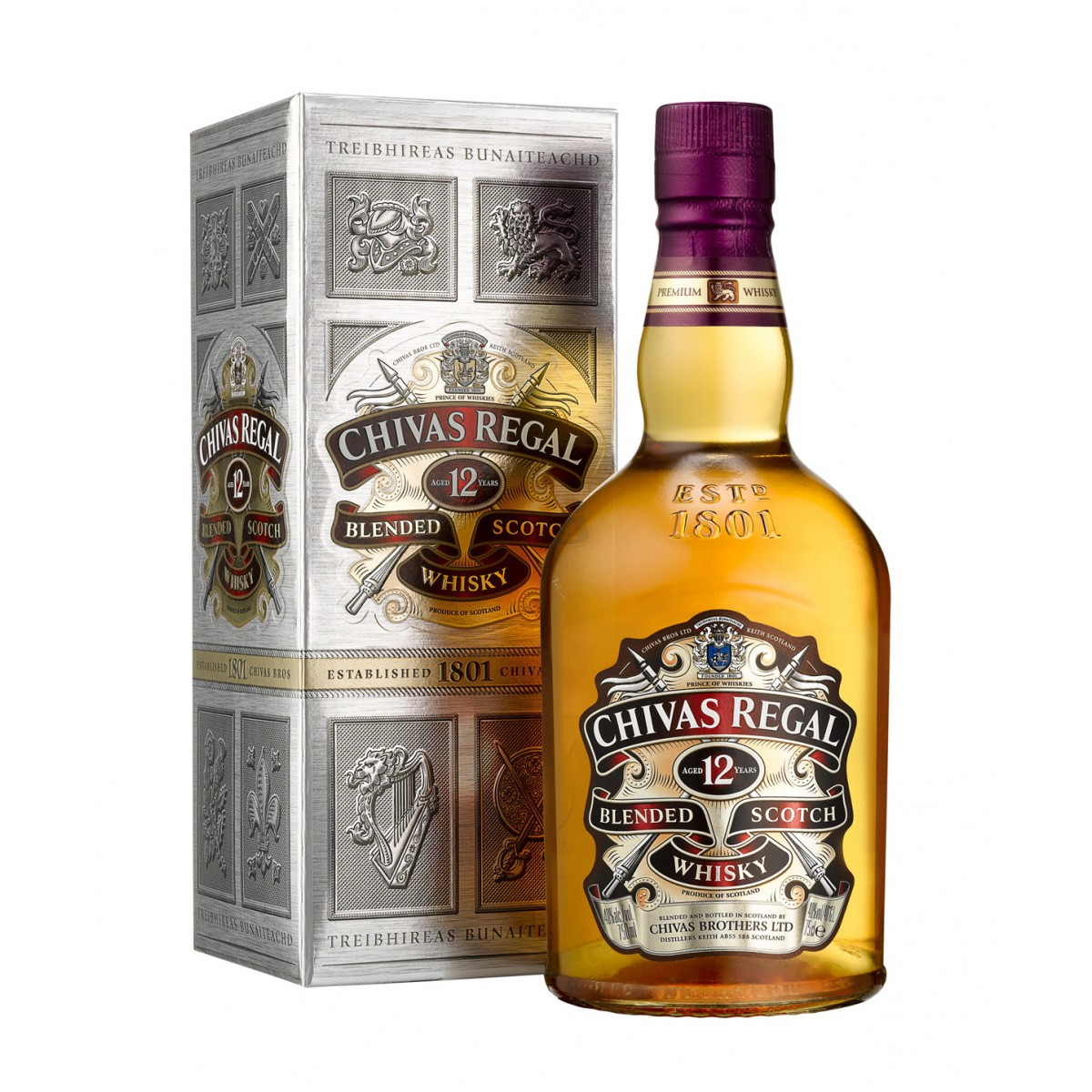 70cl Chivas Regal 12YO Whisky Bottle