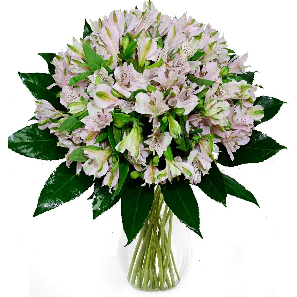 Букет 19 розови алстромерии