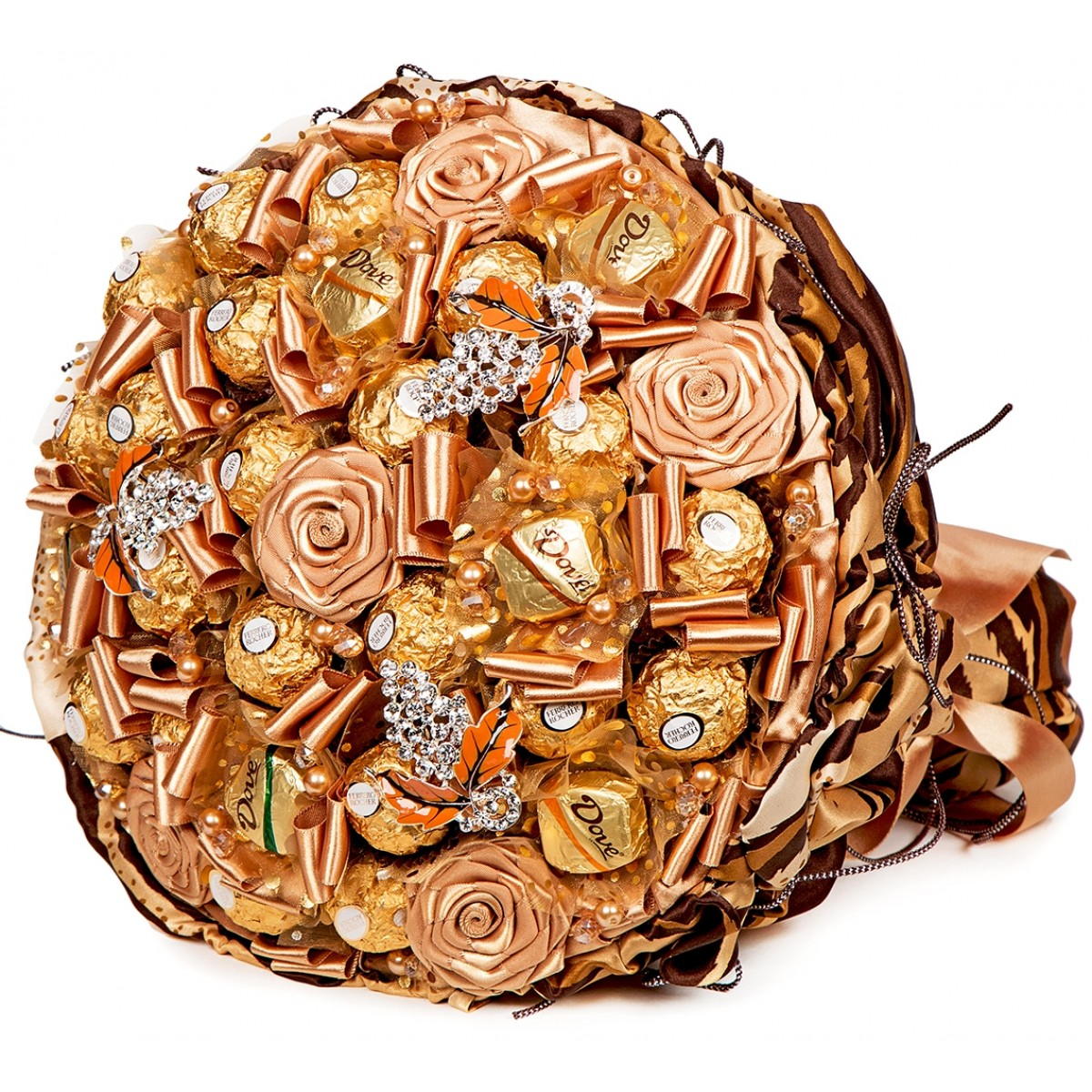 "Букет ""Chocolate Premium"" (25x30 см) от шоколадови бонбони"