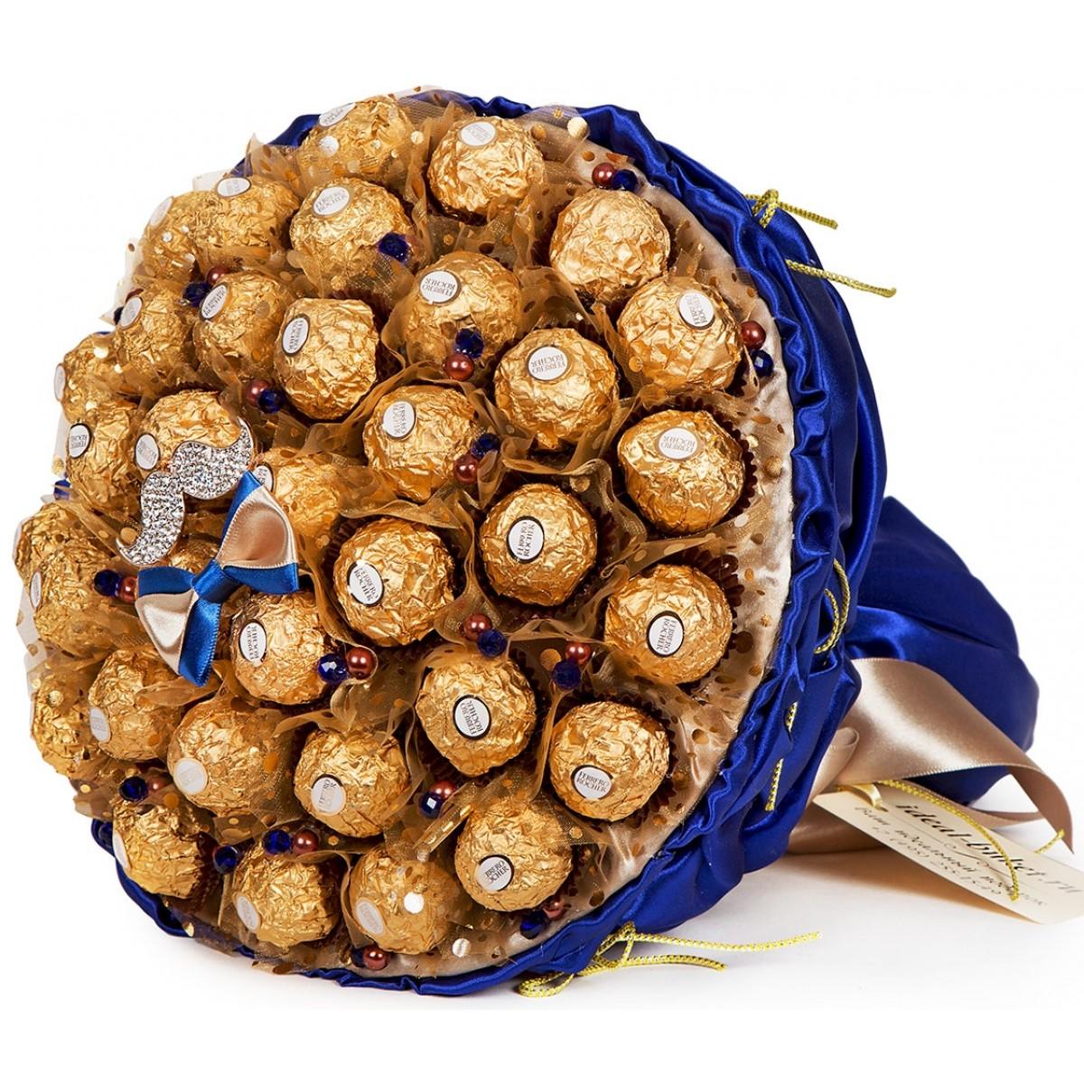 """Букет """"Gentleman"""" (25х30 см) от шоколадови бонбони"""