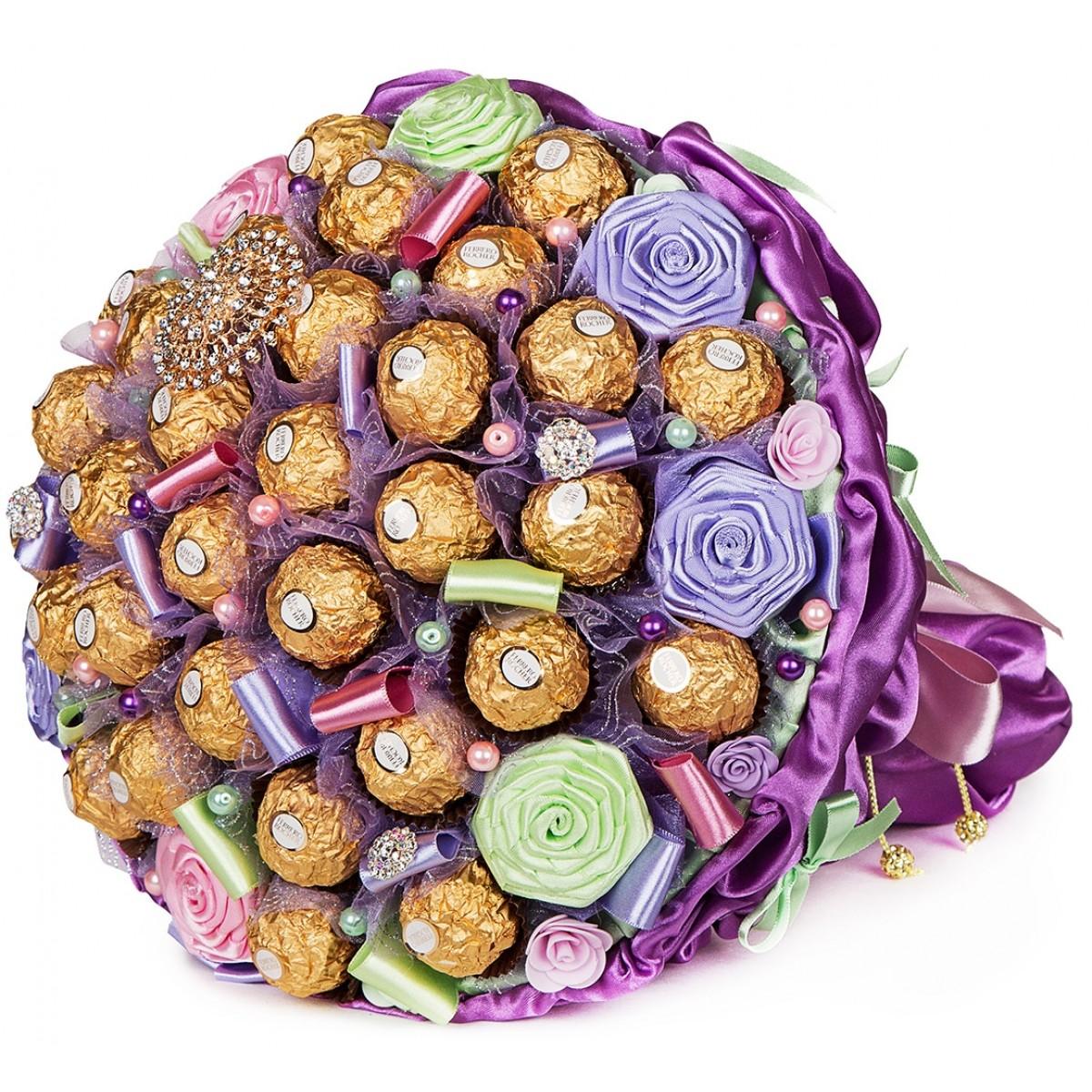 """Букет """"Мираж"""" (30x35 см) от шоколадови бонбони"""