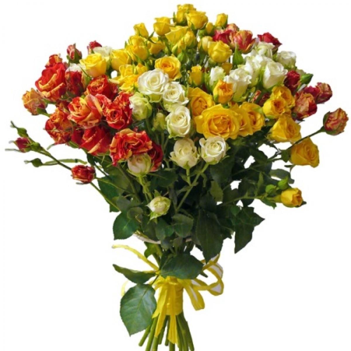 Букет от 15 до 25 спрей рози в гама светъл микс (ти избираш броя)