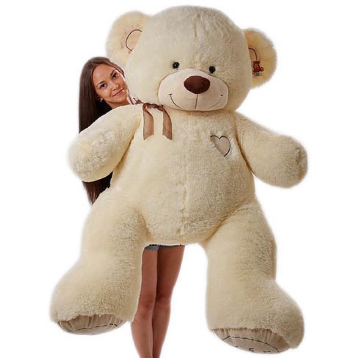 Уникална и огромна мечка 200 см - слонова кост