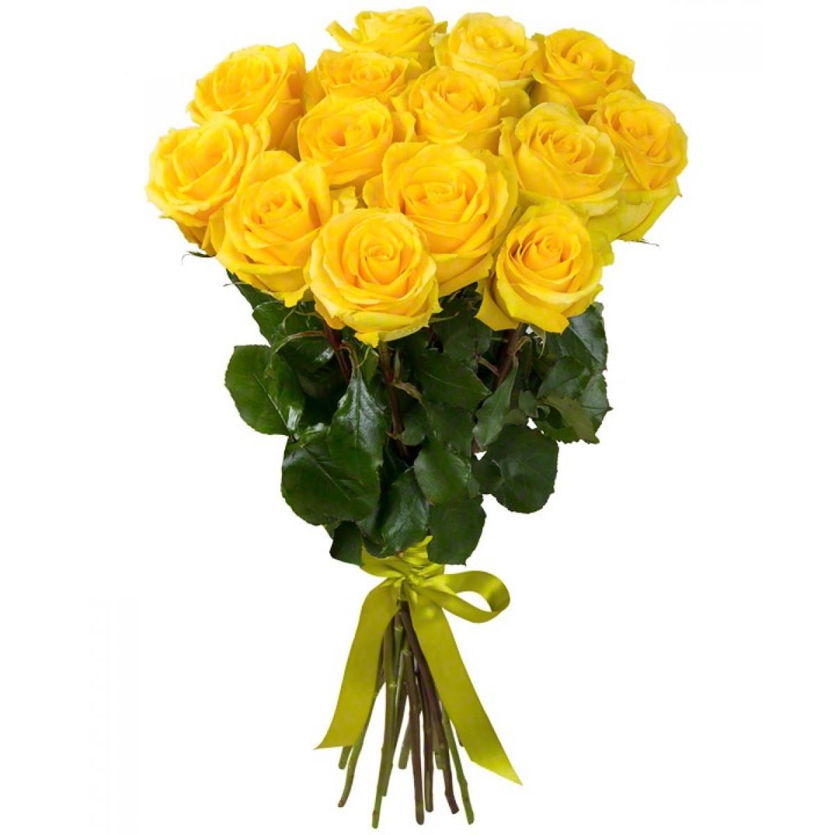 Букет от 11 до 15 жълти рози (ти избираш броя)