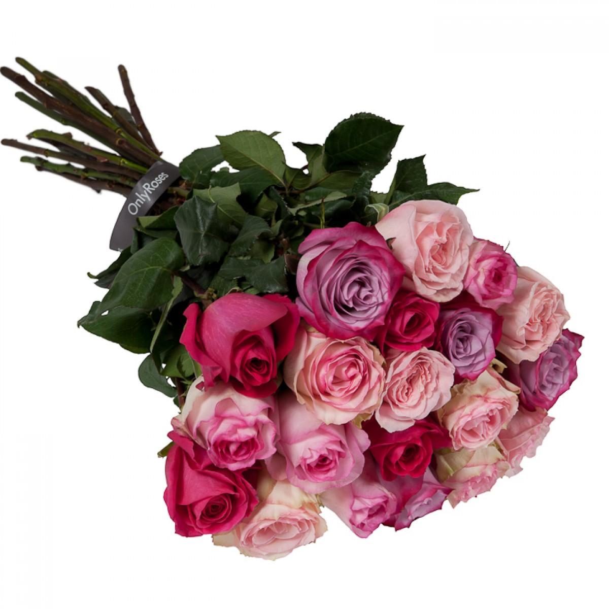 Букет от 11 до 15 рози розов микс (ти избираш броя)