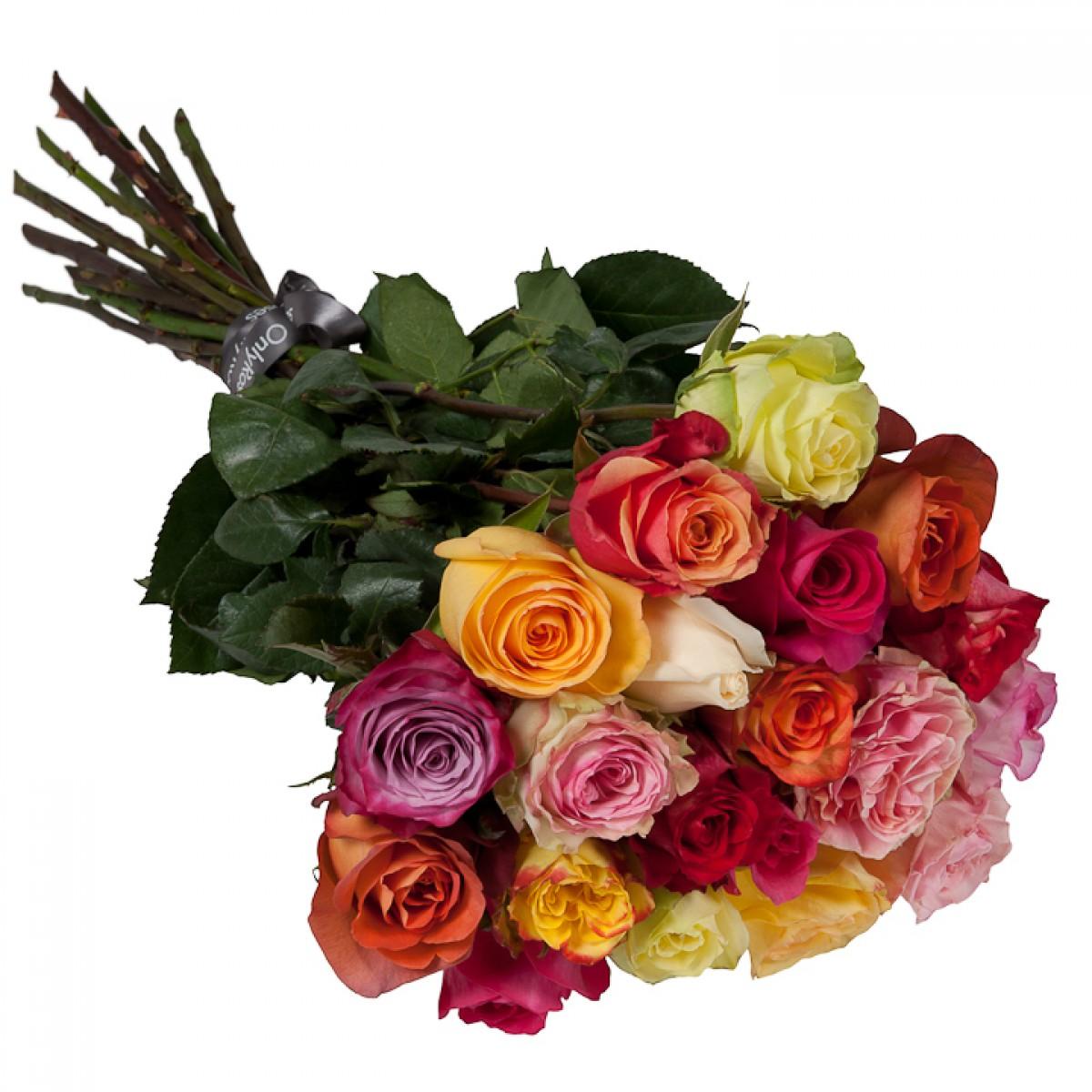 Букет от 11 до 15 рози светъл микс (ти избираш броя)