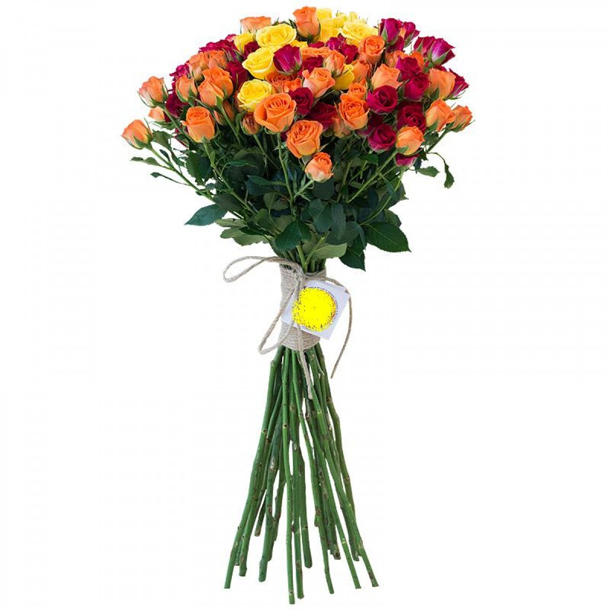 Букет от 11 до 15 спрей рози в оранжево/жълта гама (ти избираш броя)