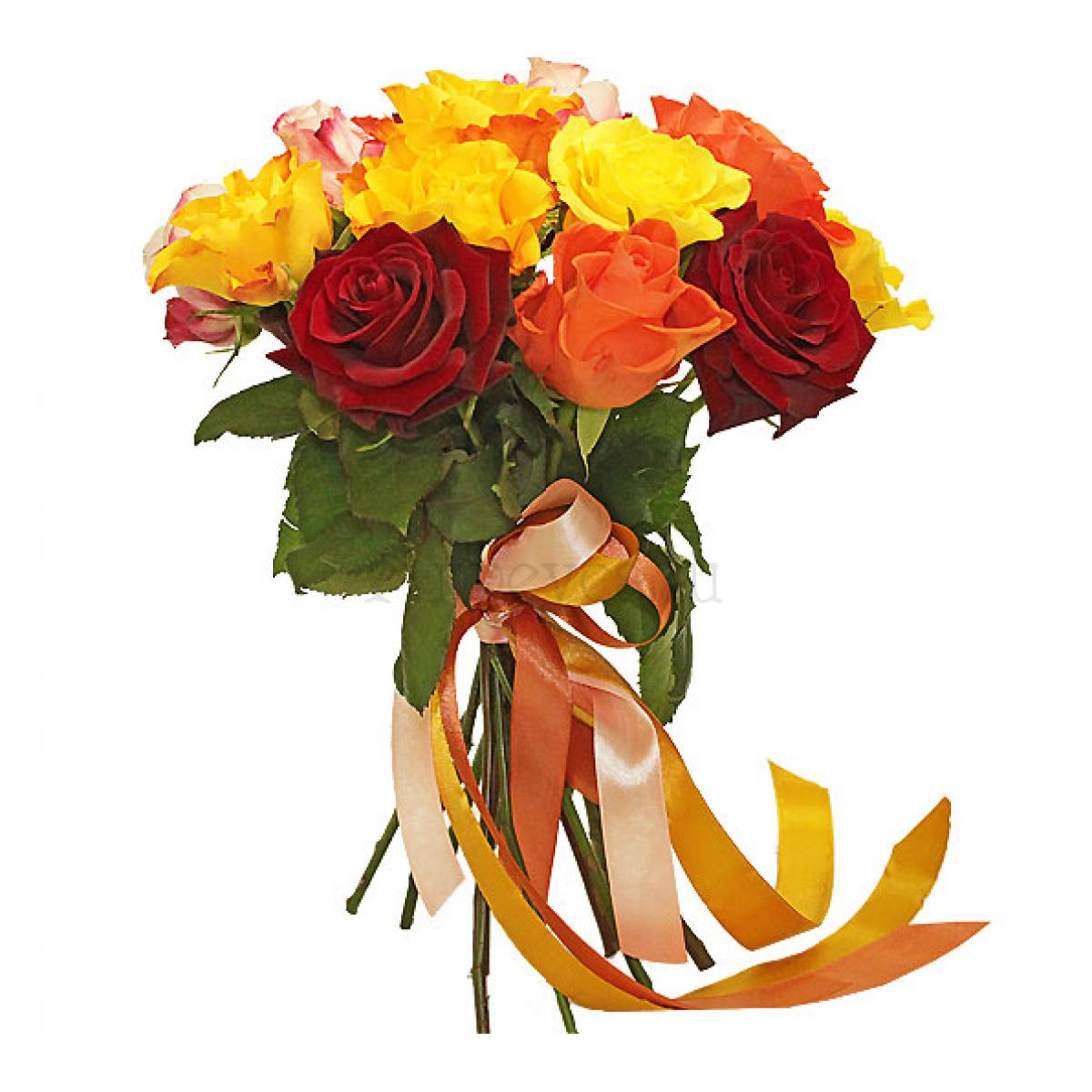 Букет от 11 рози Слънчев Микс