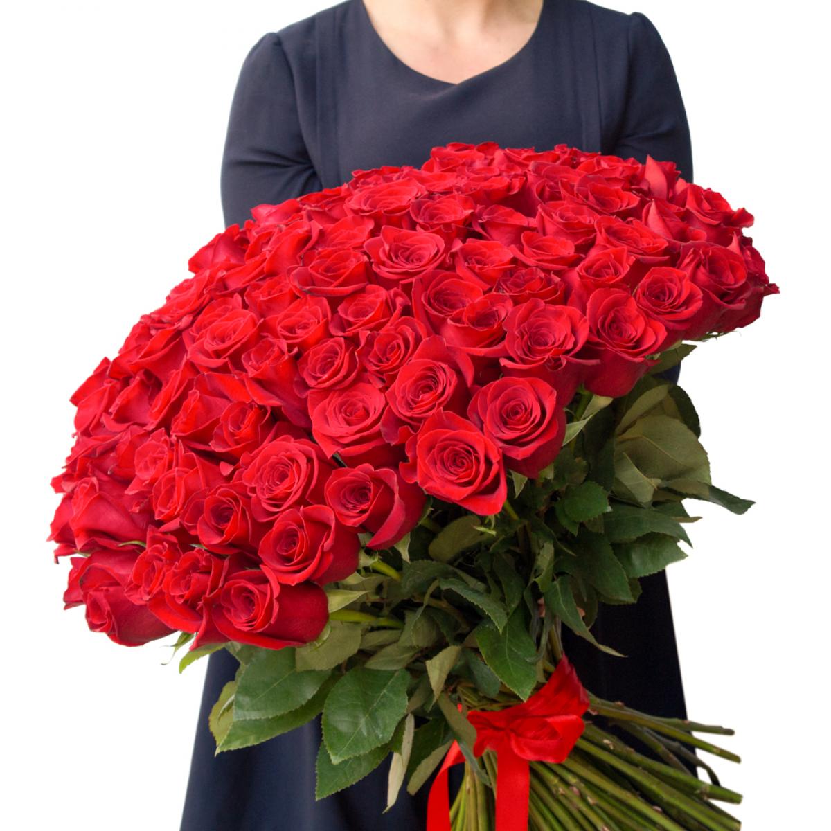 Букет от 101 червени рози Kenia