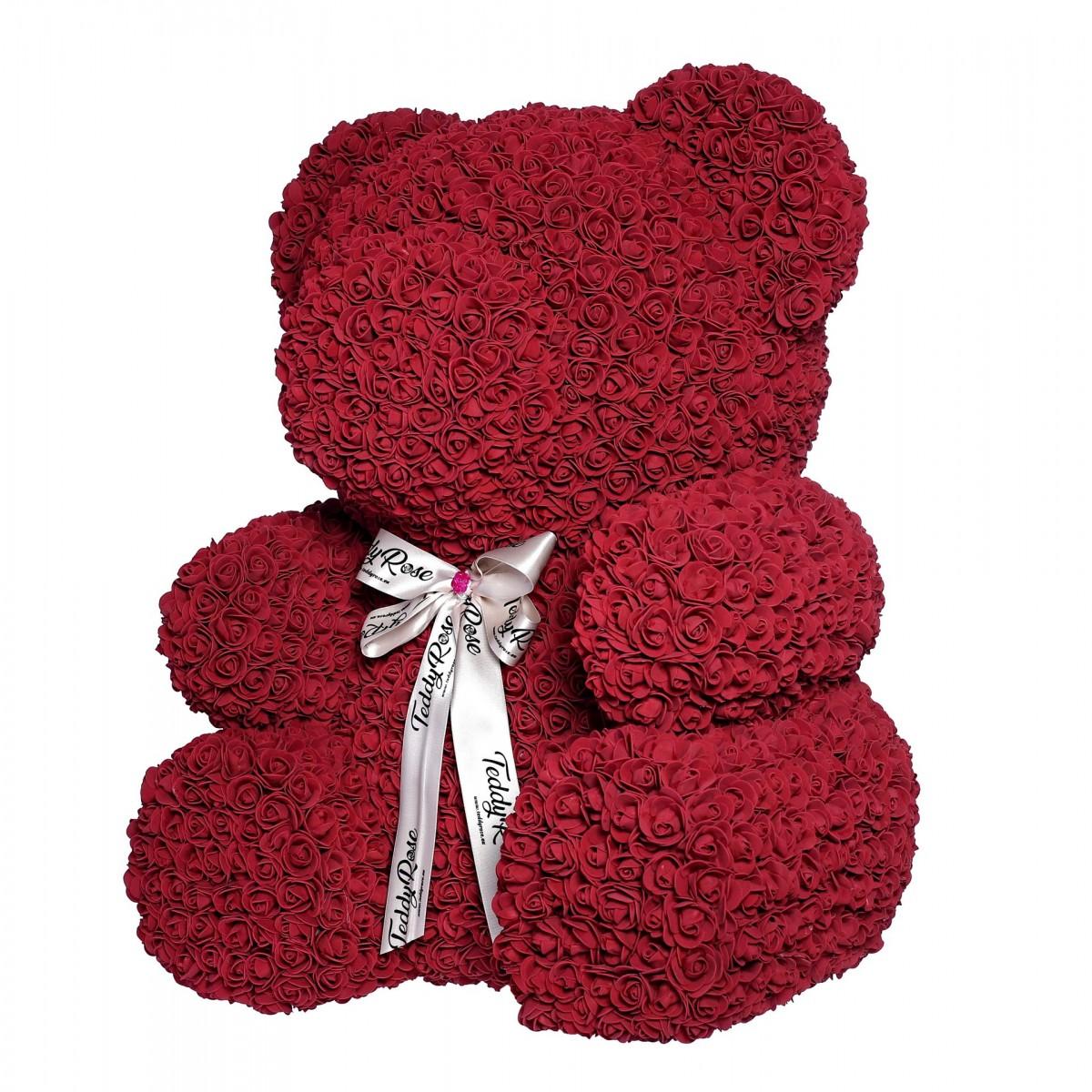 Teddy Rose XXL (Бургунди) - мече от рози
