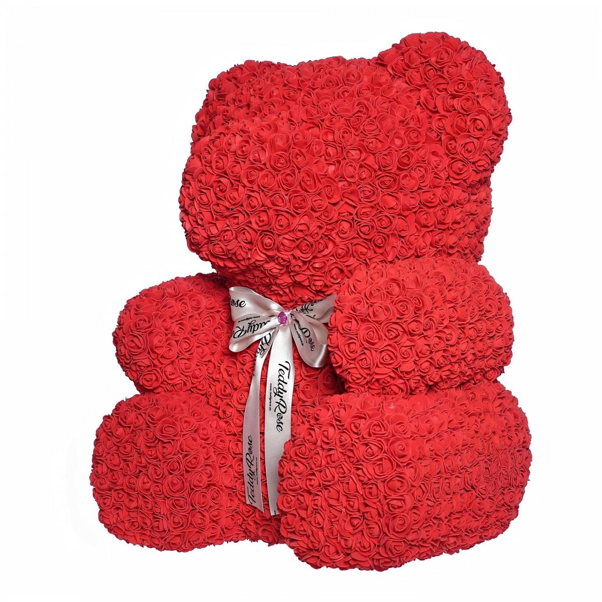 Teddy Rose XXL (червено) - мече от рози