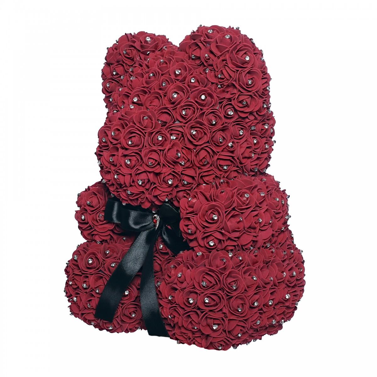 Teddy Rose Mid (Турмалин) - мече от рози с кристали