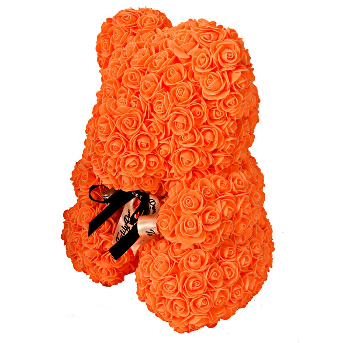 Teddy Rose Tangerine Orange Limited Edition (портокал) - мече от рози