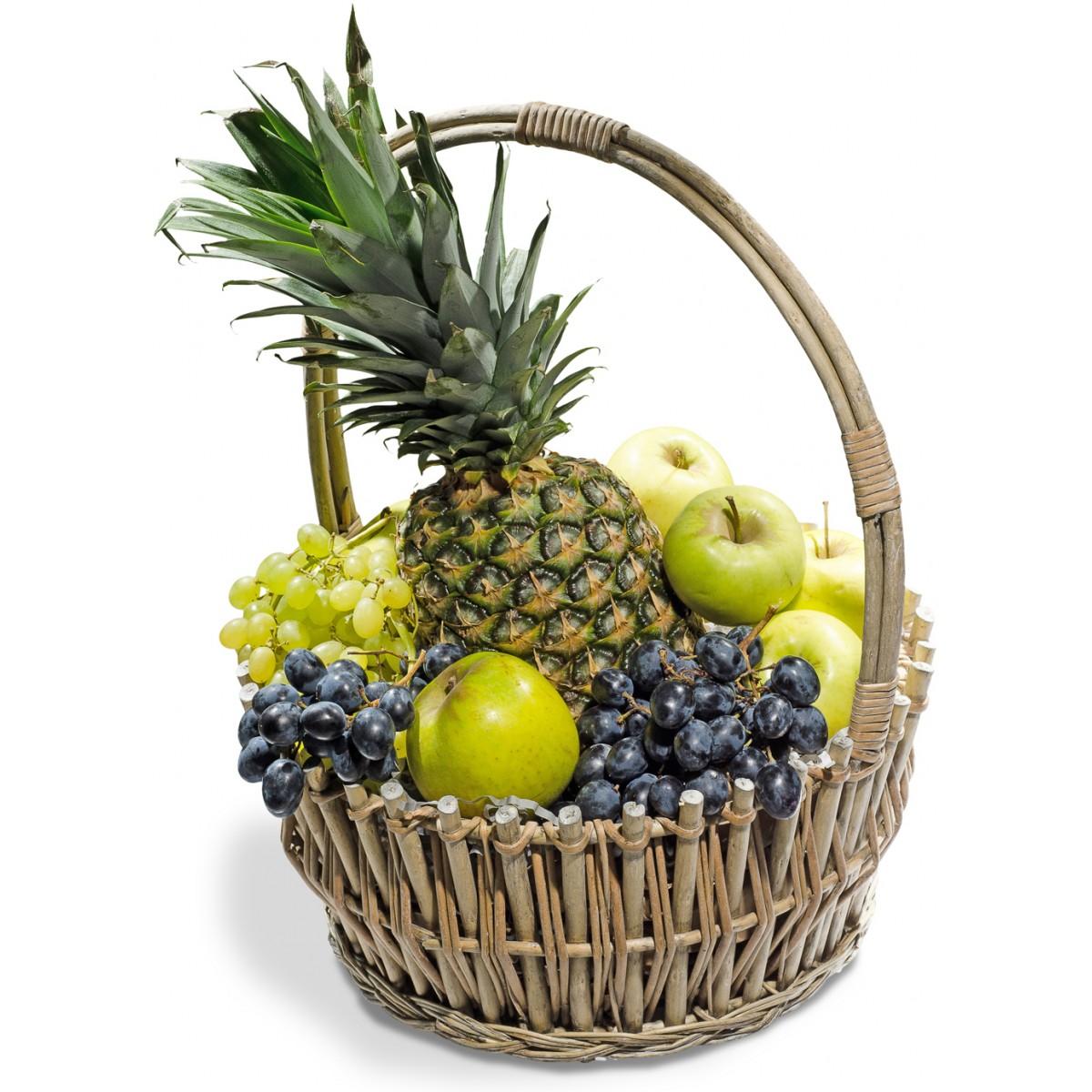 Кошница с плодове Ананас и Грозде