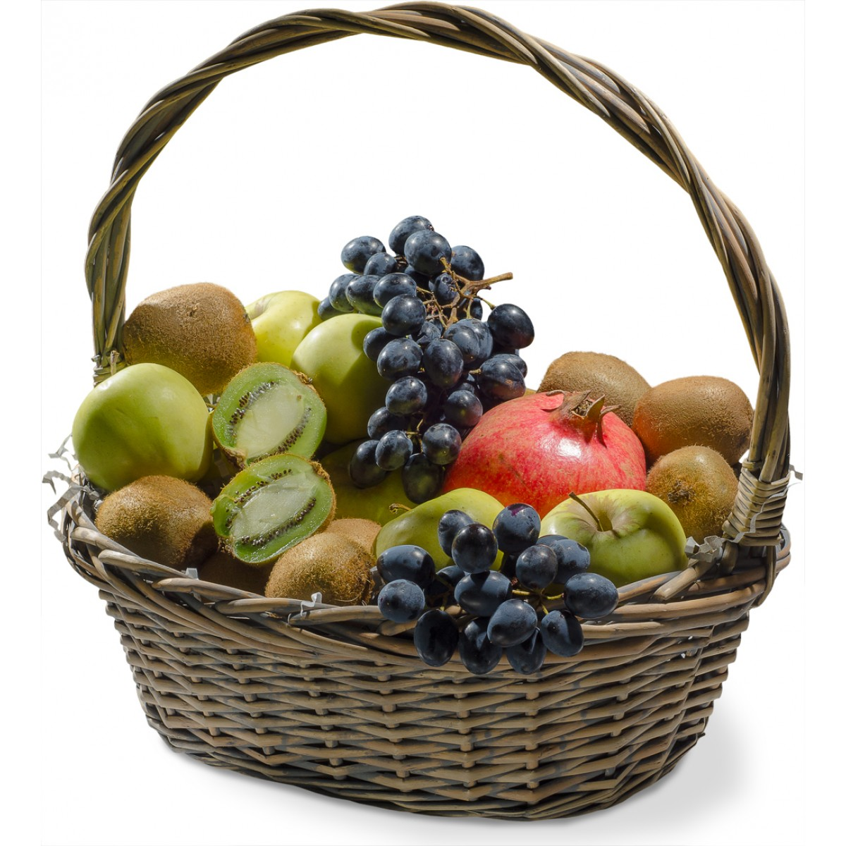 Кошница с плодове нар, киви и грозде