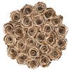Рози в Кутия - GRAND DELUXE GOLD - 25 златни рози от сапун в елегантна кутия