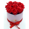 Рози в Кутия - Бъди моя Валентинка - 9 червени рози от сапун в елегантна кутия
