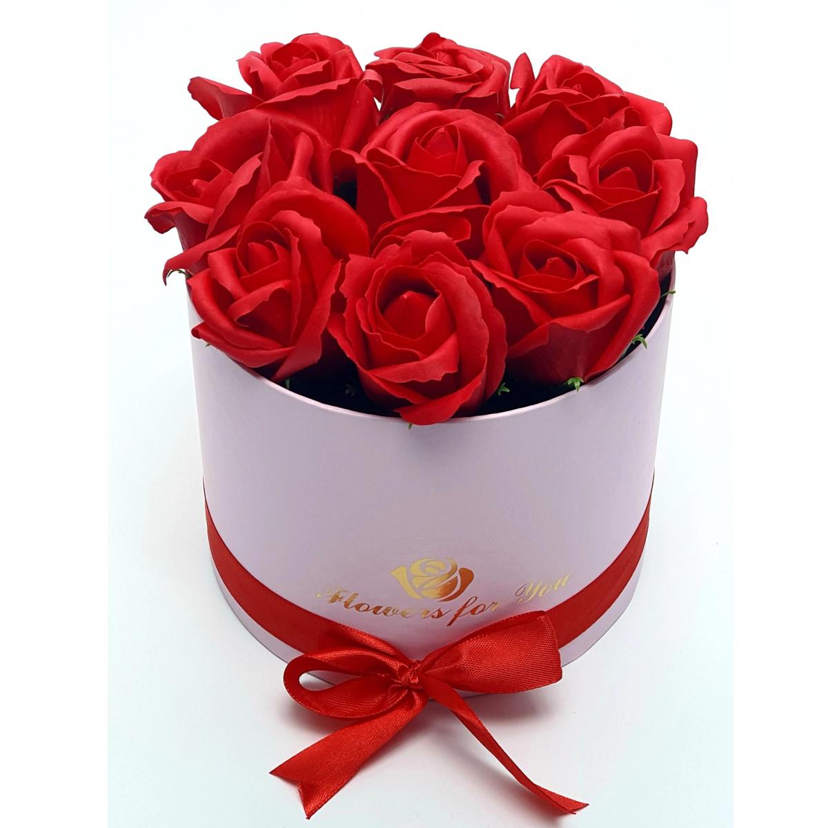 Бъди моя Валентинка - 9 червени рози от сапун в елегантна кутия