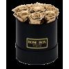 Рози в Кутия - Валентин DELUXE GOLD - 7 златни рози от сапун в елегантна кутия