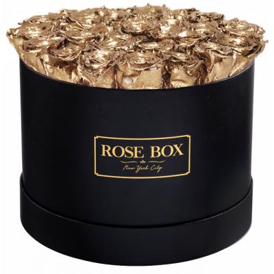 GRAND SUPER DELUXE  GOLD - 51 златни рози от сапун в елегантна кутия