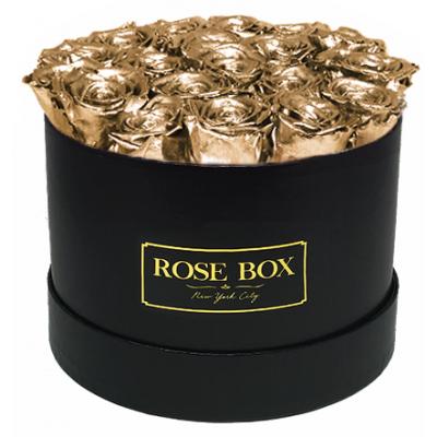 GRAND DELUXE  GOLD - 25 златни рози от сапун в елегантна кутия
