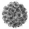 Рози в Кутия - GRAND DELUXE SILVER - 25 златни рози от сапун в елегантна кутия