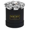 Рози в Кутия - Валентин DELUXE SILVER - 7 сребърни рози от сапун в елегантна кутия